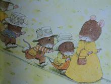 """Illustration tirée du """"Train des Souris"""" de K. Iwamura"""